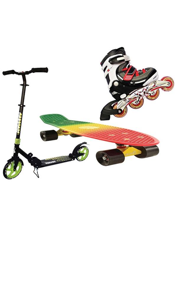 Самокаты, ролики, скейтборды